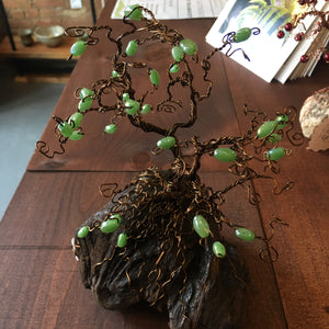 Green Beaded Bonsai Tree