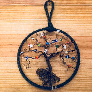 Multicolor Beaded Bonsai Dreamcatcher