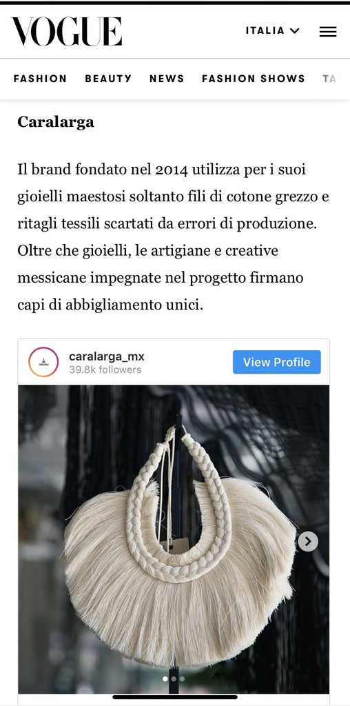 Vogue Italia | Coverage | Caralarga