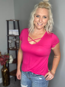 Feeling Fuchsia Top FINAL SALE