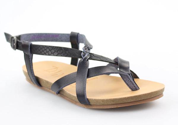Cobra Black Blowfish Sandal