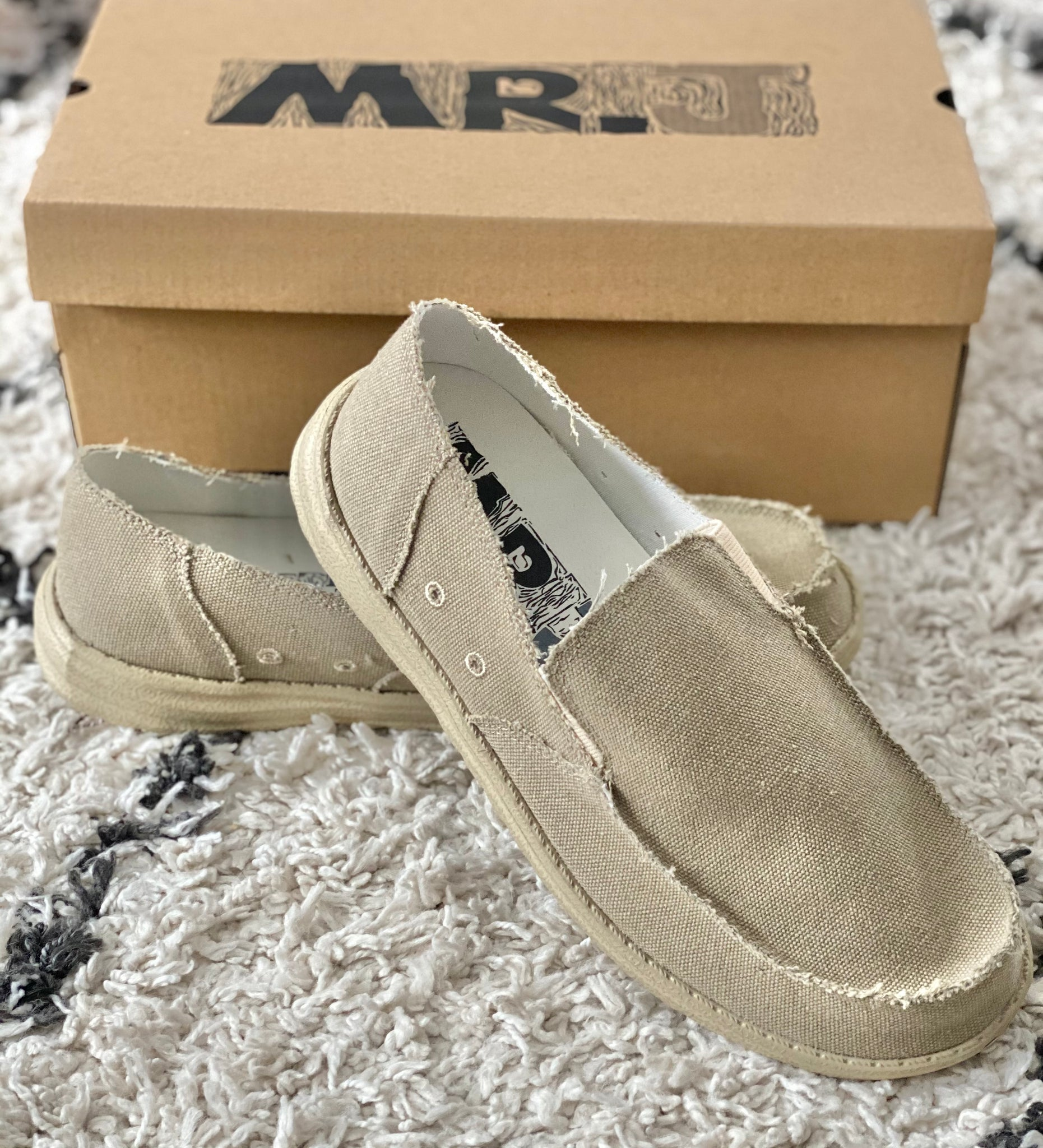 Mr. J Men's Boat Shoes- Sand