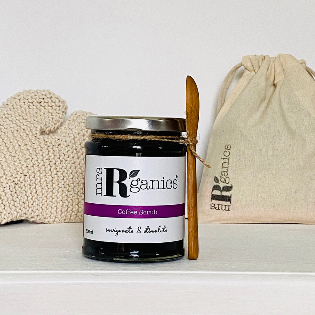 Natural Coffee Scrub & Organic Circulation Glove