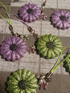 Resin Flower Phone Charms
