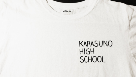 Karasuno High School t-shirt - Volleyball anime gym tee