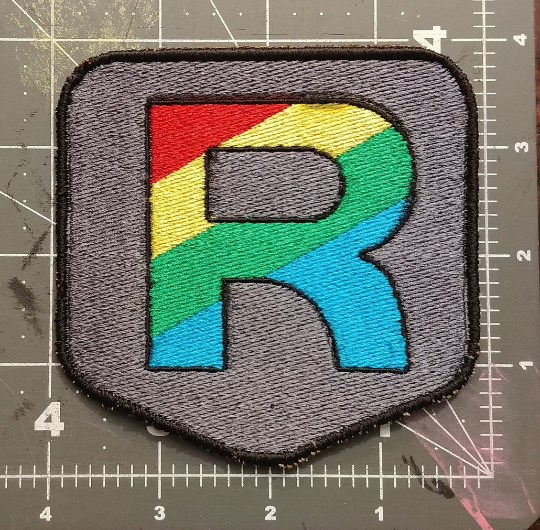 Rainbow Rocket Boss Patch (EMBROIDERY PATTERN ONLY)