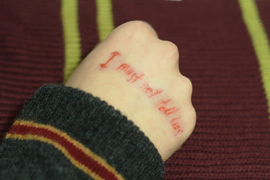 I must not tell lies - temporary tattoo