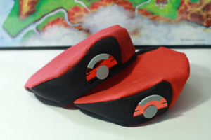 Pokemon Ranger XY Wool Beret Hat with Pokeball Emblem