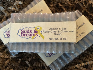 Allison's Bar - Rose Clay & Charcoal Soap