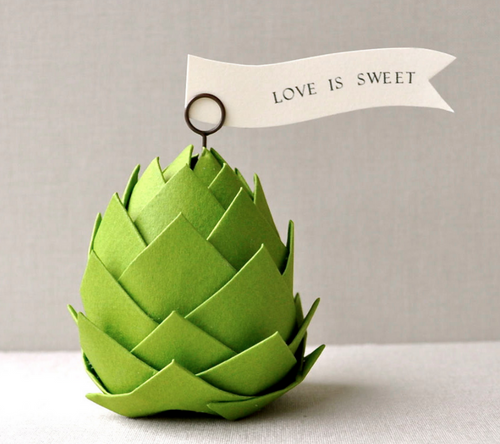 Paper Artichoke Table Decor