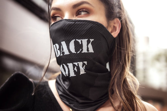 Black Back Off  Face / Neck Bandana