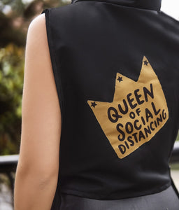 "Crown ""Queen of Social Distancing"" Wear ( 3 Colors) One Size"