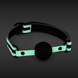 GLO BONDAGE BALL GAG GREEN