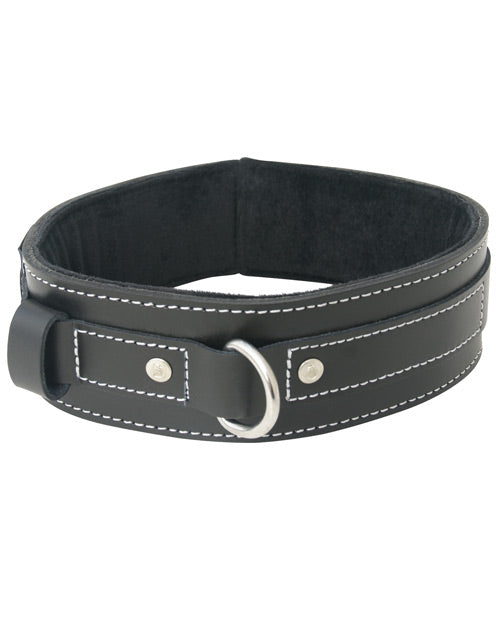 EDGE LINED LEATHER COLLAR