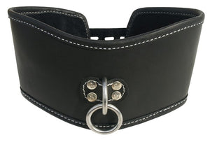 EDGE SOFT LEATHER POSTURE COLLAR BLACK