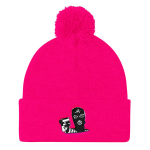 MUSH Girls Pom Pom Knit Cap