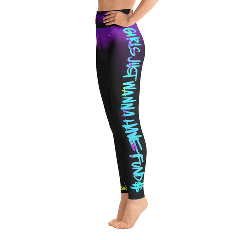 COSMIC GIRLS JUST WANNA HAVE FUND$ Yoga Leggings