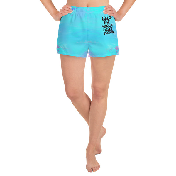 Girls Just Wanna Have Fund$ Women's Athletic Short Shorts