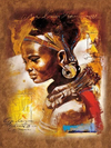 African Queen 1 - Diamond Painting Kit