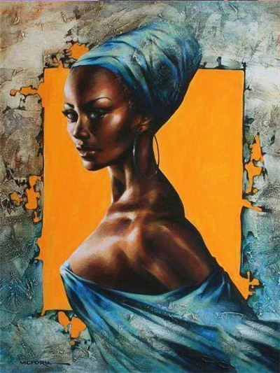 African Queen 7 - Diamond Painting Kit