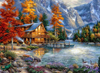 Autumn Lake - Diamond Painting Kit