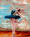 Ballerina in Blue - Paint By Numbers Kit