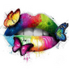 Colorful Butterfly Lips - Diamond Painting Kit