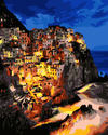 Cinque Terre By Night - Paint By Numbers Kit