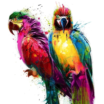 Parrots - Diamond Painting Kit