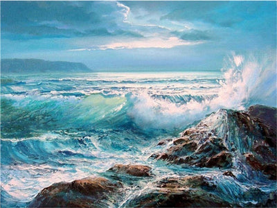 Crashing Waves - Diamond Painting Kit