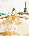 Elegant Woman and Eiffel - Paint By Numbers Kit