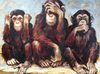 Hear See Speak No Monkeys - Diamond Painting Kit