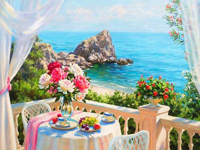 Lunch in Capri - Diamond Painting Kit