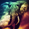 Majestic Elephant - Diamond Painting Kit