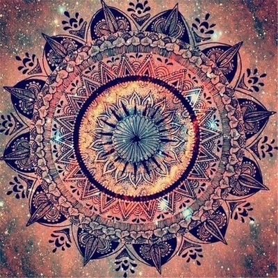 Mandala Orange - Diamond Painting Kit