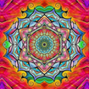Mandala Purple Red - Diamond Painting Kit