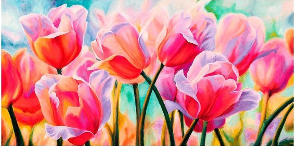 Tulips - Diamond Painting Kit