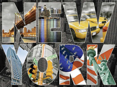New York Collage - Diamond Painting Kit