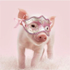 Pink Pig Carnevale - Diamond Painting Kit