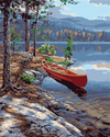 Red Canoe - Paint By Numbers Kit