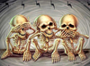 See Hear Speak No Skeletons - Diamond Painting Kit