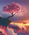 Tree Above The Clouds - Diamond Painting Kit