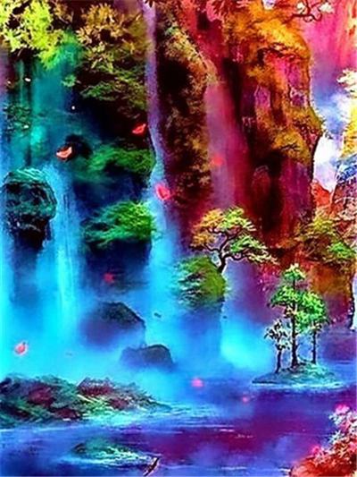 Vibrant Landscape 3 - Diamond Painting Kit