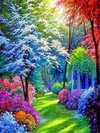 Vibrant Landscape 4 - Diamond Painting Kit