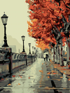 Autumn Walk in Paris - Paint By Numbers Kit
