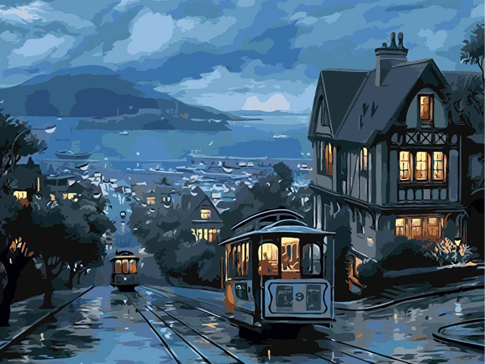 Cable Car - Paint By Numbers Kit