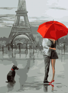 Embrace at Eiffel - Paint By Numbers Kit