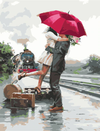 Embrace At The Train - Paint By Numbers Kit