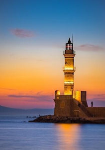 Lighthouse Greece - Diamond Painting Kit