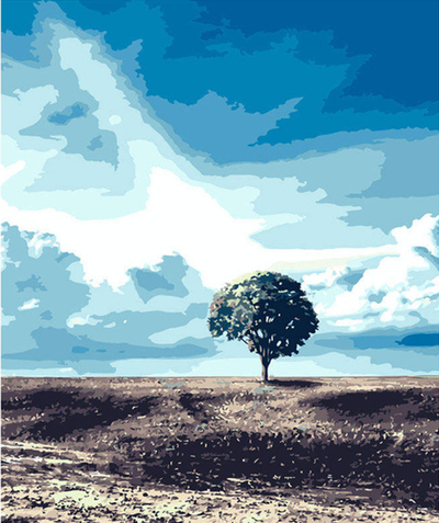 Lonesome Tree - Paint By Numbers Kit